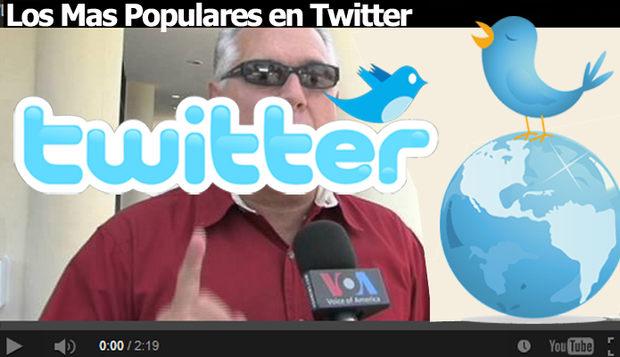 Lideres mas populares de Twitter