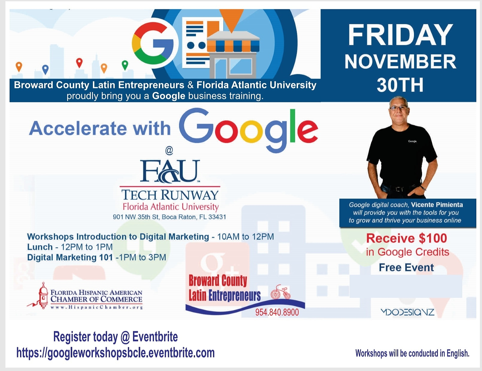 Two Google Digital Marketing workshops in one day!