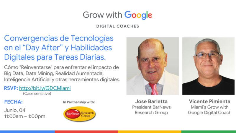 """Convergencias de Tecnologías en el """"Day After"""" y Habilidades Digitales para Tareas Diarias"""