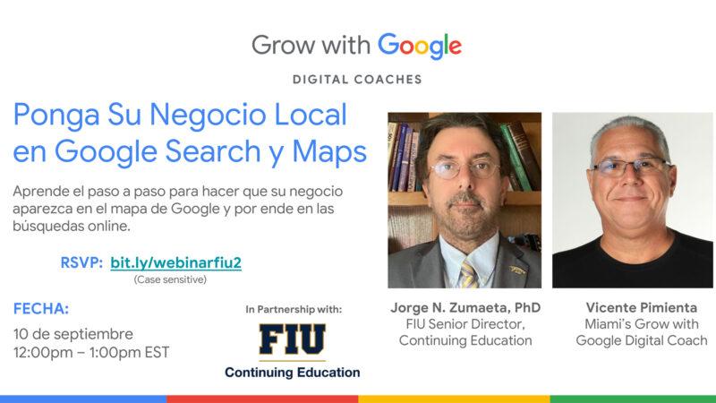 Pon tu negocio en el Mapa de Google